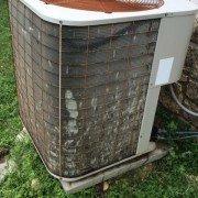 Damaged AC condenser fins